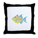 Queen Triggerfish Throw Pillow