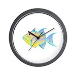 Queen Triggerfish Wall Clock