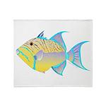 Queen Triggerfish Throw Blanket