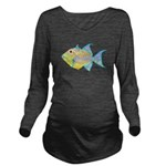 Queen Triggerfish c Long Sleeve Maternity T-Shirt