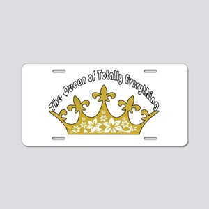 The Queen Of Totally Everything Aluminum License P