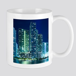 Downtown Miami at night Mugs