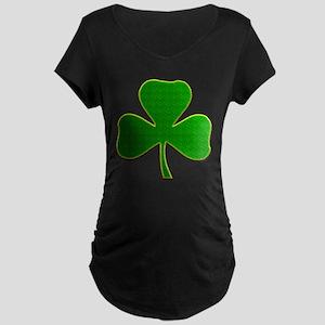 Lucky Irish Shamrock Maternity Dark T-Shirt