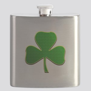 Lucky Irish Shamrock Flask