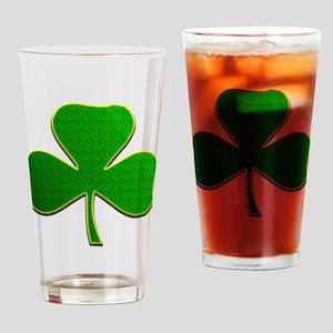Lucky Irish Shamrock Drinking Glass