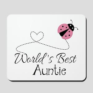 World's Best Auntie Ladybug Mousepad