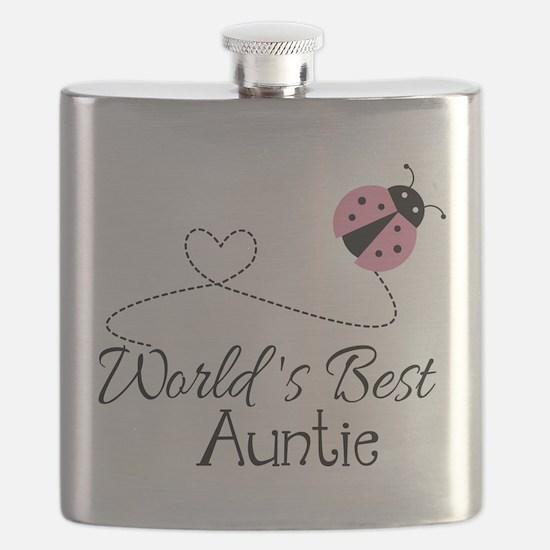 World's Best Auntie Ladybug Flask