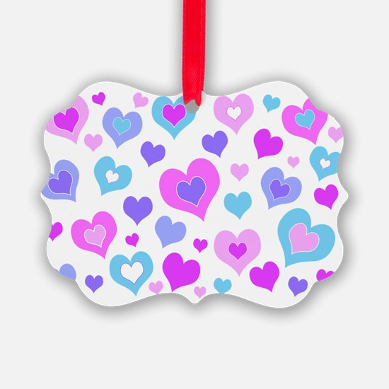 Cute Girly Hearts Ornament