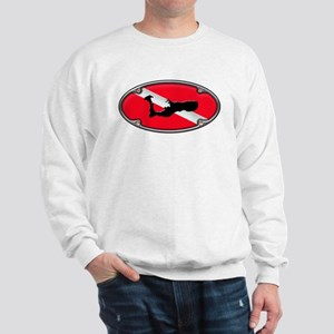 Framed Grand Cayman Dive Flag Sweatshirt