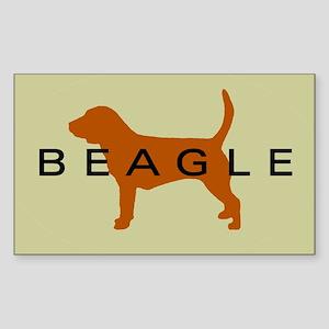 Beagle Dog Rectangle Sticker