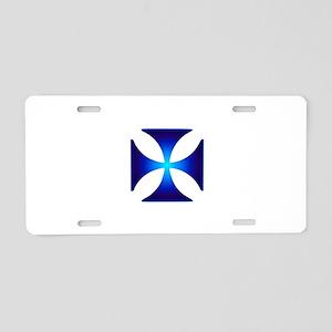Glowing symbol Cross Pattee Aluminum License Plate