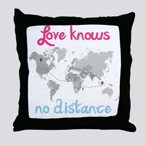LDR ( Love know no Distance) Throw Pillow