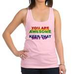 You Are Fucking Awesome Racerback Tank Top