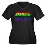 You Are Fucking Awesome Women's Plus Size V-Neck D