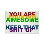 You Are Fucking Awesome Rectangle Magnet