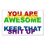 You Are Fucking Awesome Sticker (Rectangle 10 pk)