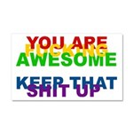 You Are Fucking Awesome Car Magnet 20 x 12