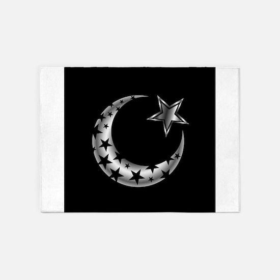 The Islamic star 5'x7'Area Rug