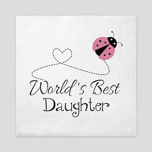 Worlds Best Daughter Queen Duvet