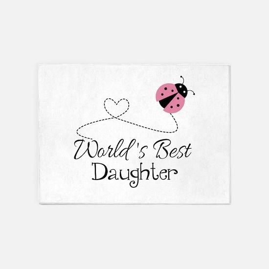 Worlds Best Daughter 5'x7'Area Rug
