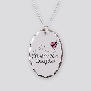 Worlds Best Daughter Necklace Oval Charm