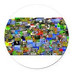 Mental landscape Round Car Magnet