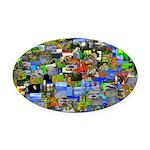 Mental landscape Oval Car Magnet