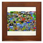 Mental landscape Framed Tile