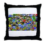 Mental landscape Throw Pillow