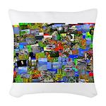 Mental landscape Woven Throw Pillow