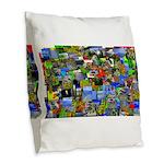 Mental landscape Burlap Throw Pillow