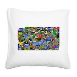 Mental landscape Square Canvas Pillow