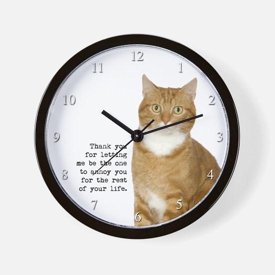 Annoying Cat Wall Clock