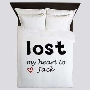 11x11 lost my heart to jack heart Queen Duvet