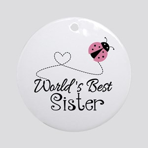 Worlds Best Sister Ornament (Round)