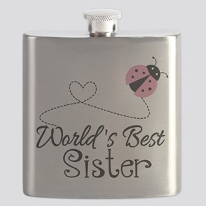 Worlds Best Sister Flask