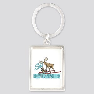 Ski New Hampshire Portrait Keychain