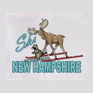 Ski New Hampshire Throw Blanket