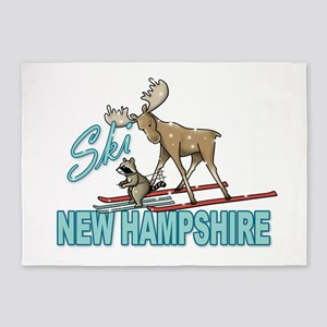 Ski New Hampshire 5'x7'Area Rug