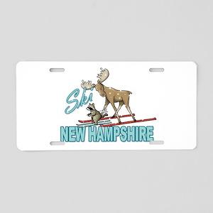 Ski New Hampshire Aluminum License Plate