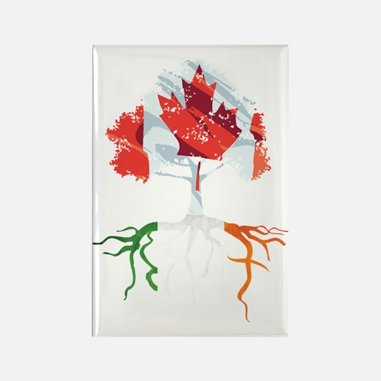 Canada Irish Roots Rectangle Magnet