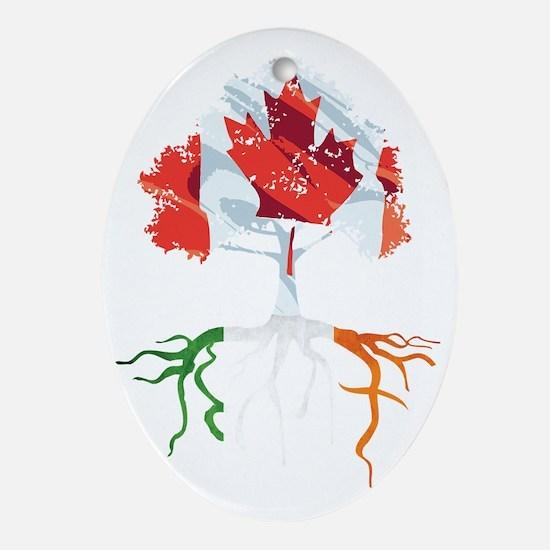 Canada Irish Roots Oval Ornament