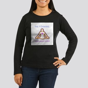 The seven chakras with their r Long Sleeve T-Shirt