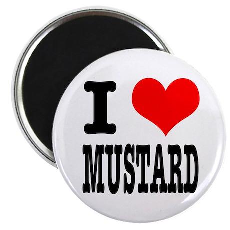 """I Heart (Love) Mustard 2.25"""" Magnet (100 pack)"""