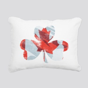 Canadian Shamrock Rectangular Canvas Pillow