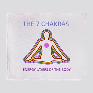 The seven chakras with their respect Throw Blanket