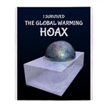 I Survived The Global Warming Hoax Throw Blanket