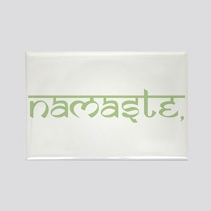 Namaste, Yoga Rectangle Magnet