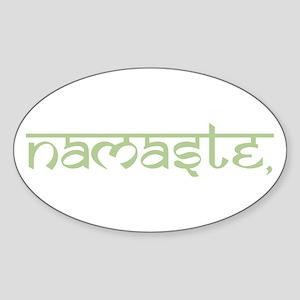 Namaste, Yoga Sticker (Oval)