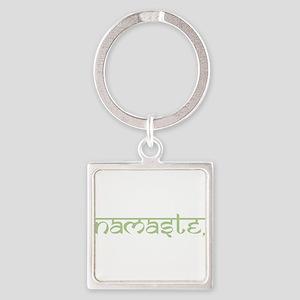 Namaste, Yoga Square Keychain